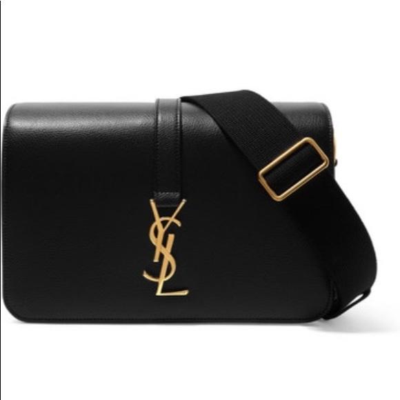 Saint Laurent Bags   Ysl Monogramme Texturedleather Shoulder Bag ... eeb3d54380